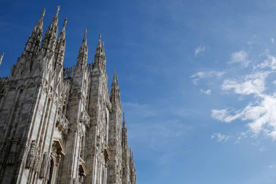 Duomo di Milano. Fotografia di architetture. Comunicazione